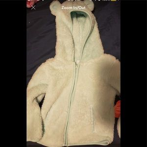 Mint Green Infants Soft Hooded Jacket